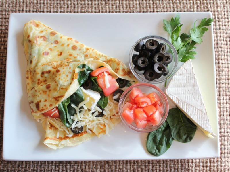 Spinach & Brie Crepe
